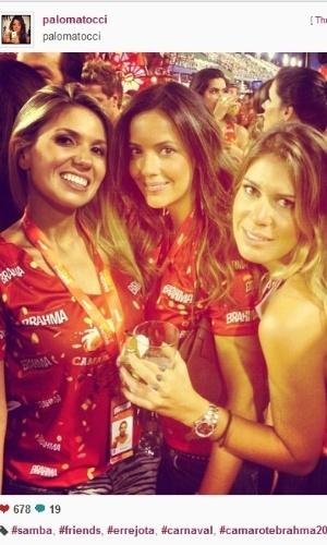 Paloma Tocci aproveita Carnaval com as amigas