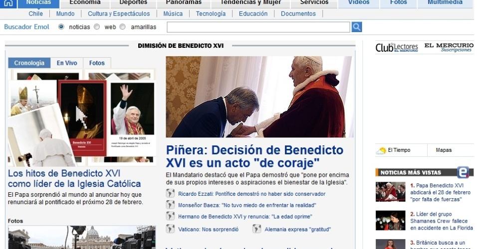 Site do jornal chileno