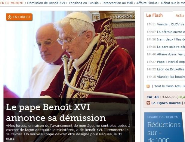Site do jornal francês