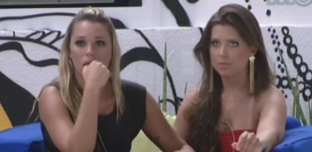 Andressa diz a Marien que acredita que ela ficará na casa