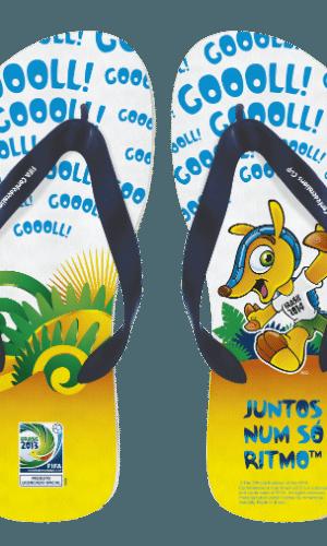 A empresa Amazonas pretende colocar à venda cerca de 3 milhões de pares de sandálias até a Copa de 2014