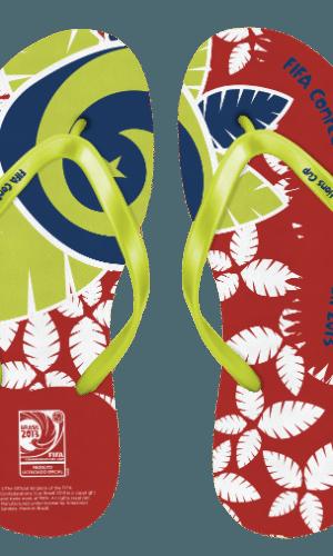 Empresa lançou dez modelos de sandálias da Copa das Confederações. Para a Copa do Mundo, serão mais de 30 modelos