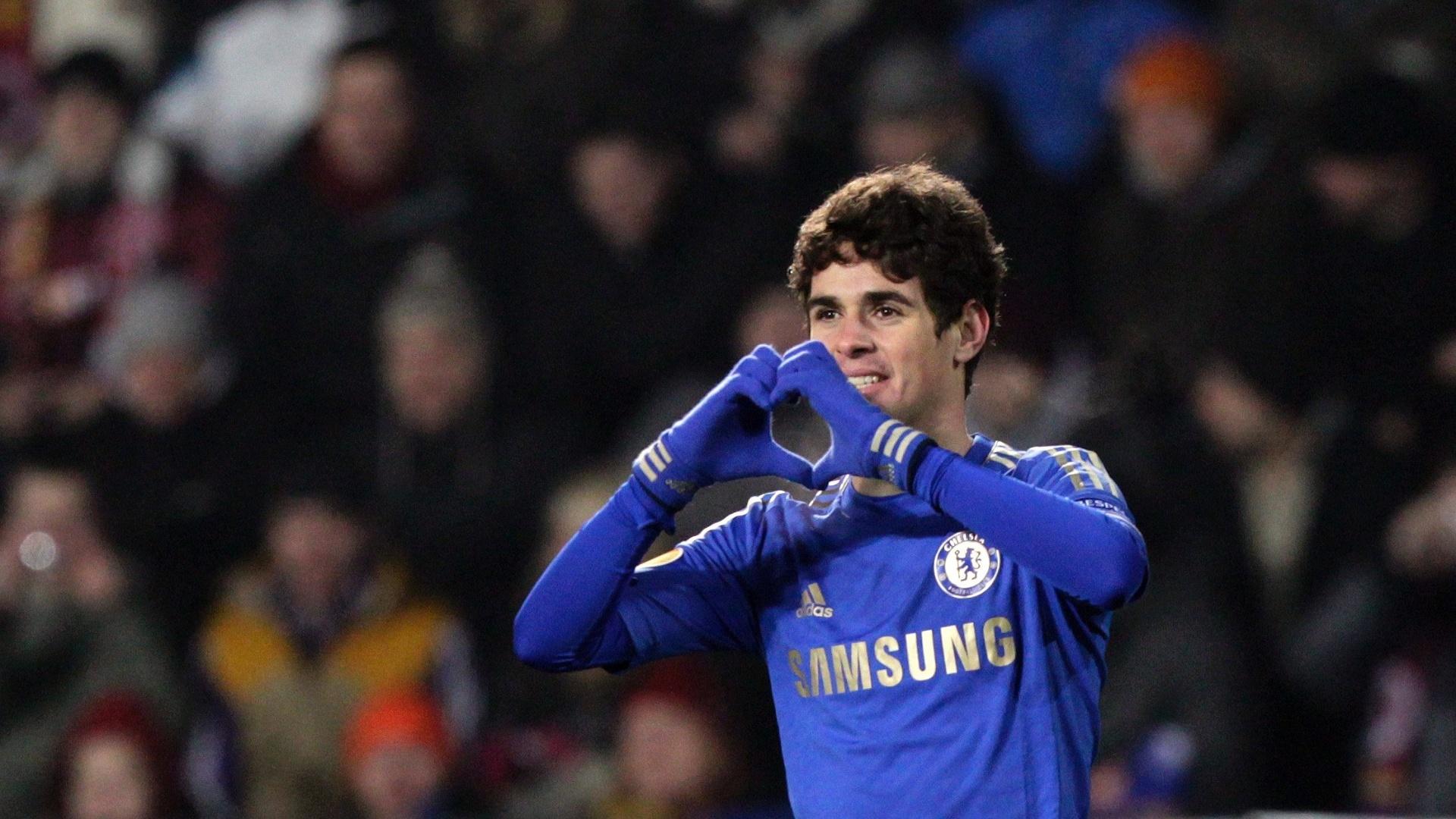 84baea17b6b5c Oscar marca e dá vitória ao Chelsea nos mata-matas da Liga Europa  Napoli  dá vexame em casa - 14 02 2013 - UOL Esporte