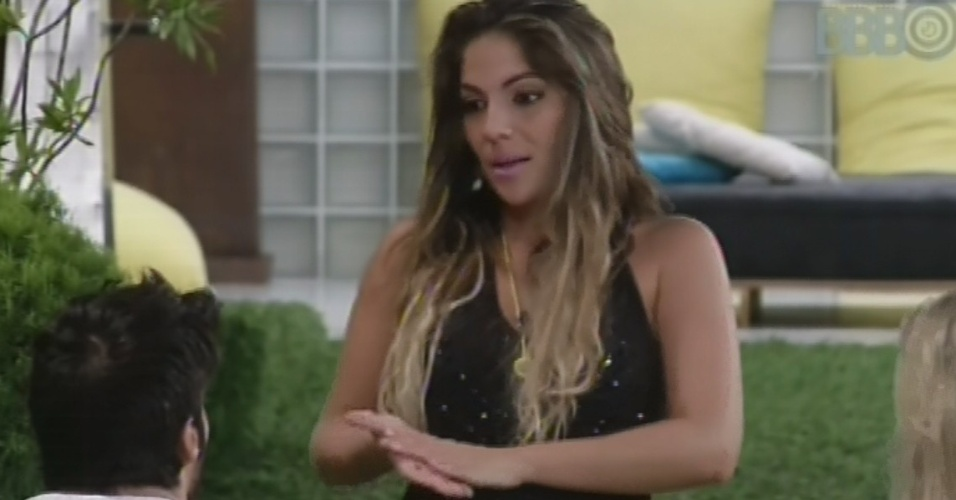 """15.fev.2013 - Anamara diz a Marcello que suspeita que o Big Fone tenha sido """"pegadinha"""""""