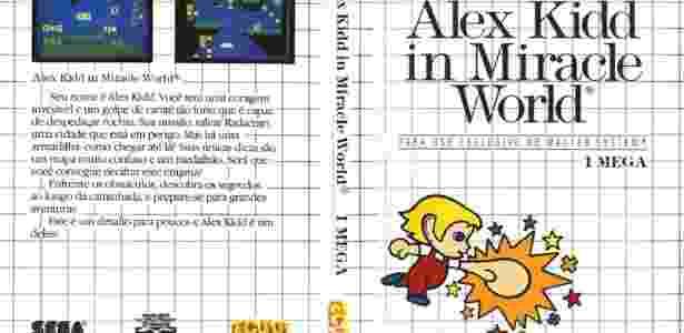 Quem lembra dessa capa de Alexx Kidd no Master System? - Reprodução