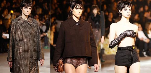 Modelos mostram looks de Marc Jacobs para o Inverno 2013 durante a semana de moda de Nova York (14/02/2013) - Getty Images