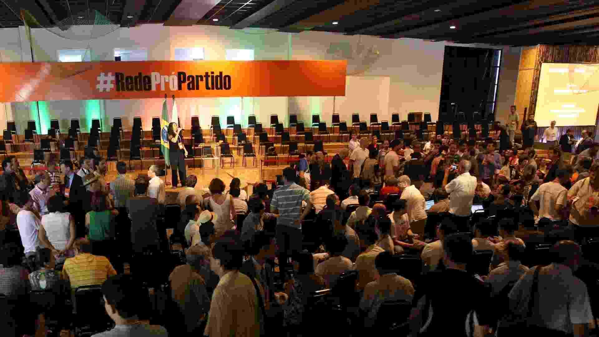 16.fev.2013 - Evento lança novo partido da ex-senadora Marina Silva, neste sábado (16), em Brasília (DF) - Roberto Jayme/UOL