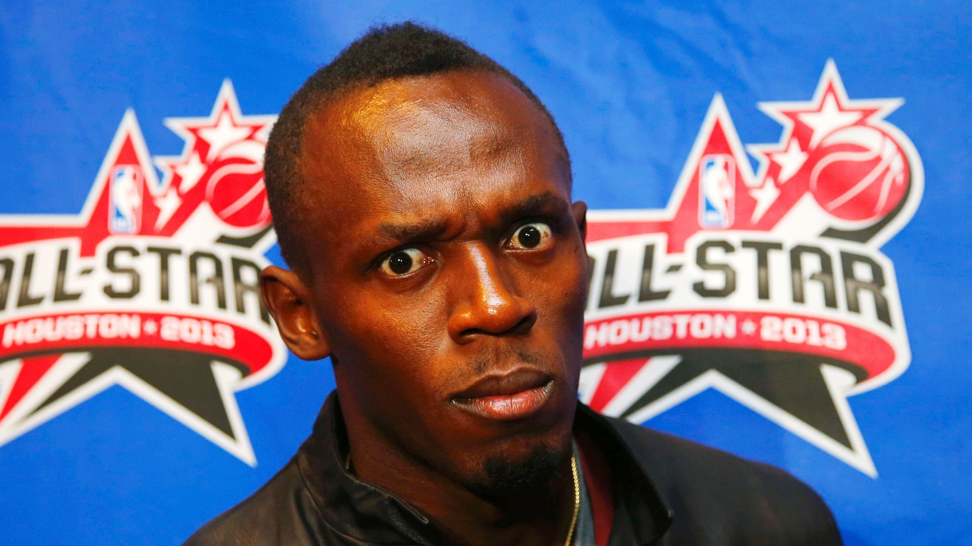 17.fev.2013 - Usain Bolt durante o All-Star Game da NBA