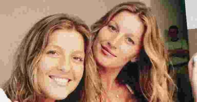 Gisele (à dir) e Patricia Bündchen nasceram com 5 minutos de diferença. Patrícia ficou grávida perto da top, com diferença de um mês para seu bebê e a segunda filha de Gisele, Vivian Lake - Reprodução/Twiiter