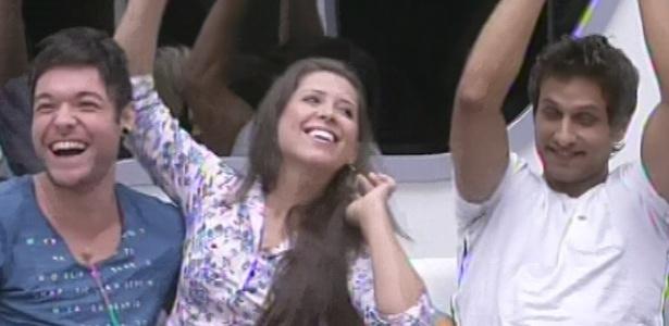 """Andressa venceu Eliéser no jogo da discórdia e escolheu Nasser para ter o poder do """"não"""". Ela ainda ganhou R$ 10 mil"""