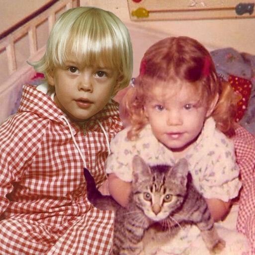 18.fev.2013 - Montagem publicada pela cantora Fergie em seu Twitter mostra ela e seu marido, Josh Duhamel, quando eram crianças
