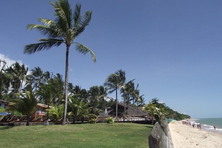 Hotel na beira da praia em Arraial D'Ajuda, na Bahia