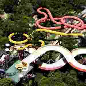 O Arraial D'Ajuda Eco Parque tem toboáguas, piscinas, rio para percorrer de boia e também atividades como tirolesa e arvorismo - Divulgação