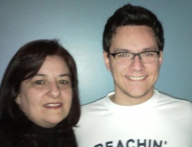 19.fev.2013 - Ivan e sua mãe, Maristela Ferreira