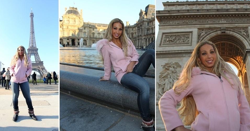 19.fev.2013 - Valesca Popozuda posa para fotos em Paris