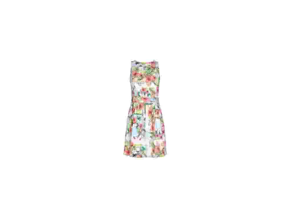 Vestido com estampa inspirada na cidade de Trancoso; R$ 189, na Dress To (www.dressto.com.br). Preço pesquisado em fevereiro de 2013 e sujeito a alterações - Divulgação
