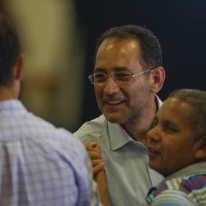 João Paulo Cunha chega à festa de comemoração dos dez anos do PT no governo no último dia 20 - Fernando Donasci/UOL