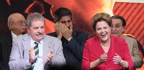 Lula e a presidente Dilma participam da festa de comemoração dos dez anos do PT no governo - Jorge Araujo/Folhapress