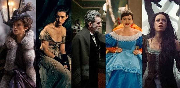 """""""Anna Karenina"""", """"Os Miseráveis"""", """"Lincoln"""", """"Espelho, Espelho Meu"""" e """"Branca de Neve e o Caçador"""" são os indicados ao Oscar 2013 de melhor figurino - Divulgação"""