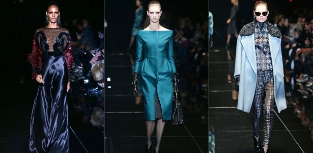 Modelos apresentam looks da Gucci para o Inverno 2013 durante a semana de moda de Milão (20/02/2013) - Getty Images