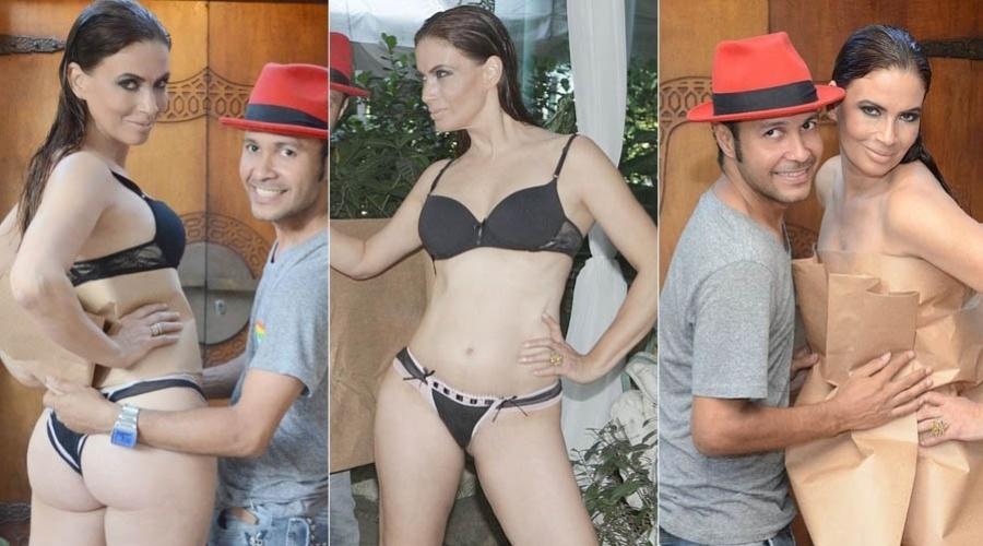 21.fev.2013 - Isadora Ribeiro posa de lingerie para revista