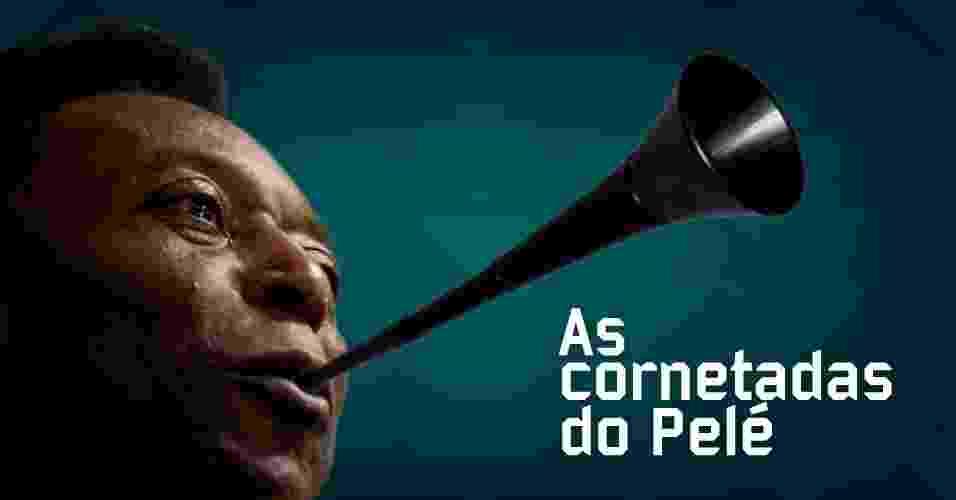 Romário, Maradona Neymar: relembre as cornetadas de Pelé e suas vítimas - Arte UOL
