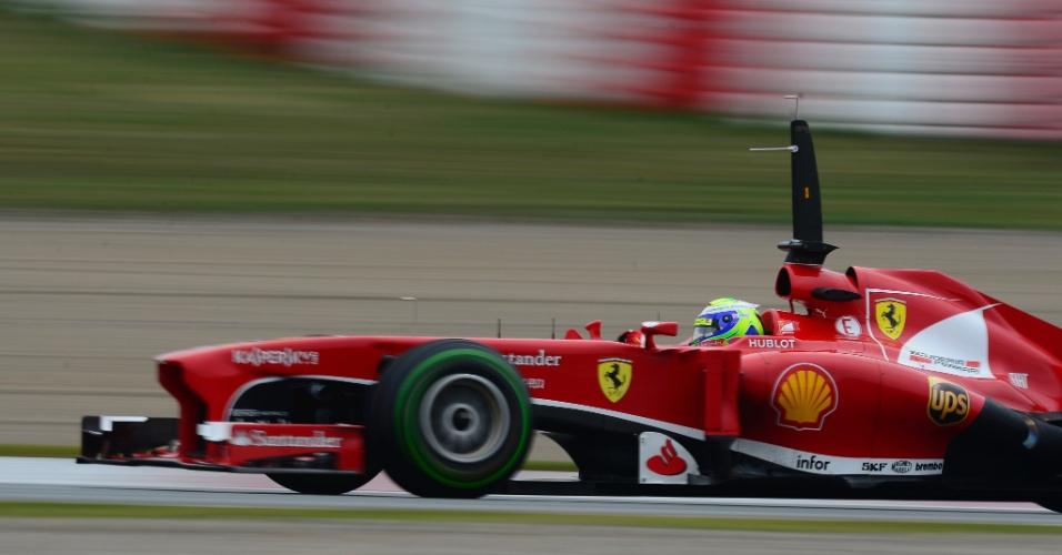 22.fev.2013 - Felipe Massa fez o sétimo melhor tempo pela manhã nos treinos coletivos em Barcelona