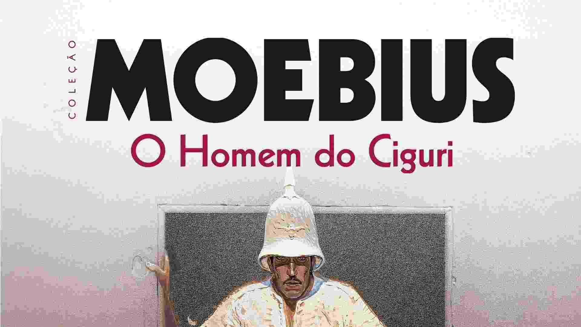 """Capa de """"O Homem do Ciguri"""", inédito do quadrinista francês Moebius lançado no Brasil. Editora: Nemo, Páginas: 56, Preço: 49,00 - Divulgação"""