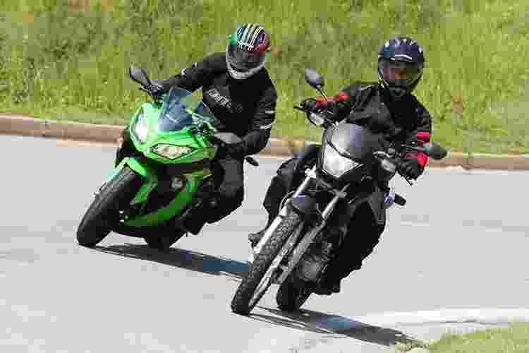 Kawasaki Ninja 300 x Honda Falcon NX400i - Doni Castilho/Infomoto