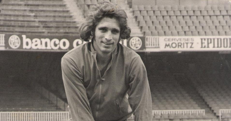 Marinho Peres, ex-zagueiro da seleção na Copa de 74 e do Barcelona. Atualmente técnico sem clube