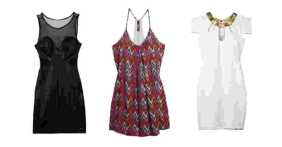 Vestidos da Coca-Cola Clothing, marca de roupas e acessórios licenciada pela Coca-Cola no Brasil. O modelo preto custa R$ 109,90, o estampado R$ 139,90 e o branco, R$ 239,90 (Tel.: 11 2893-0677). Preços consultados em fevereiro de 2012 e sujeitos a alterações - Divulgação