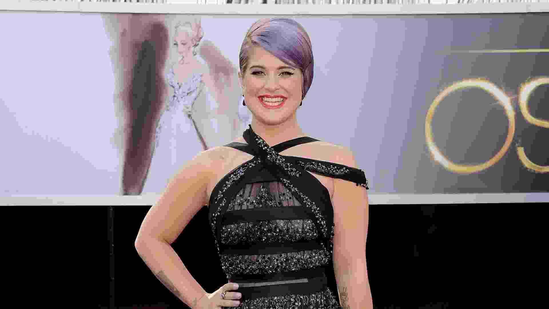 24.fev.2013 - Kelly Osbourne chega para cerimônia do Oscar 2013 - Getty Images