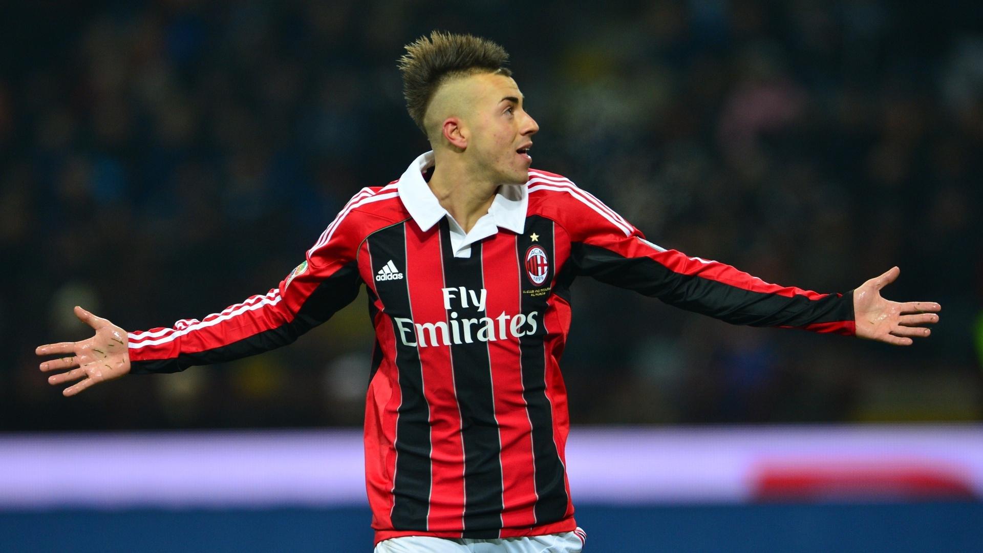 El Shaarawy abriu o placar para o Milan no clássico contra a Inter de Milão, que terminou empatado