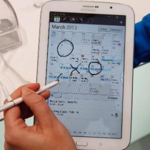 O Galaxy Note 8 é um dos lançamentos da Samsung que vão aquecer o mercado de tablets em 2013