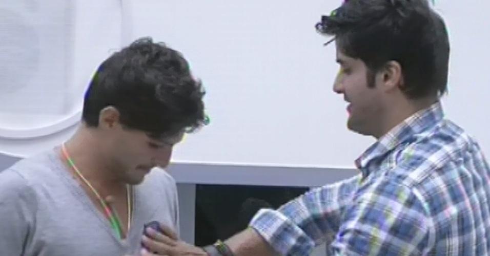 25.fev.2013 - Jogo da discórdia começa e Marcello diz que André foi uma de suas decepções na casa