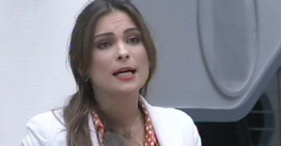 25.fev.2013 - Kamilla afirma estar decepcionada com Anamara no jogo da discórdia. Ela justificou baseando-se ano fato de ter sido indicada pela baiana