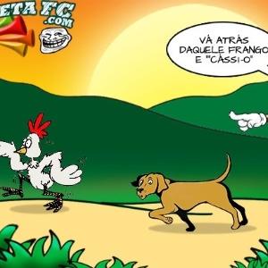 Corneta FC: Cássio treina cachorro para caçar frangos