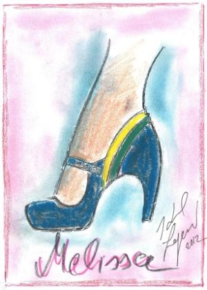 Desenho de Melissa criada por Karl Lagerfeld. O estilista da Chanel lança em março coleção em parceria com a marca brasileira - Divulgação