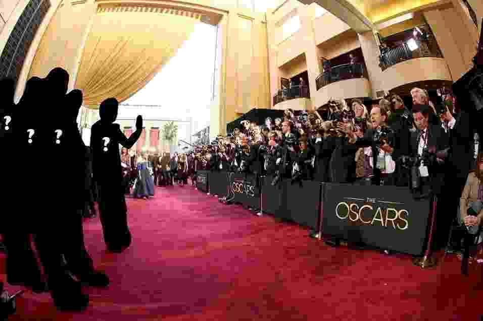 Fotógrafos registram chegada de convidados no tapete vermelho do Oscar 2013 - Arte/UOL / Getty Images