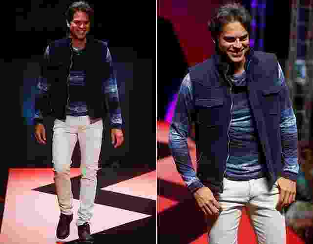 O ator Juan Alba desfila durante o Mega Polo Moda, evento organizado por shopping de moda por atacado localizado no Brás, em São Paulo - Alexandre Schneider/UOL