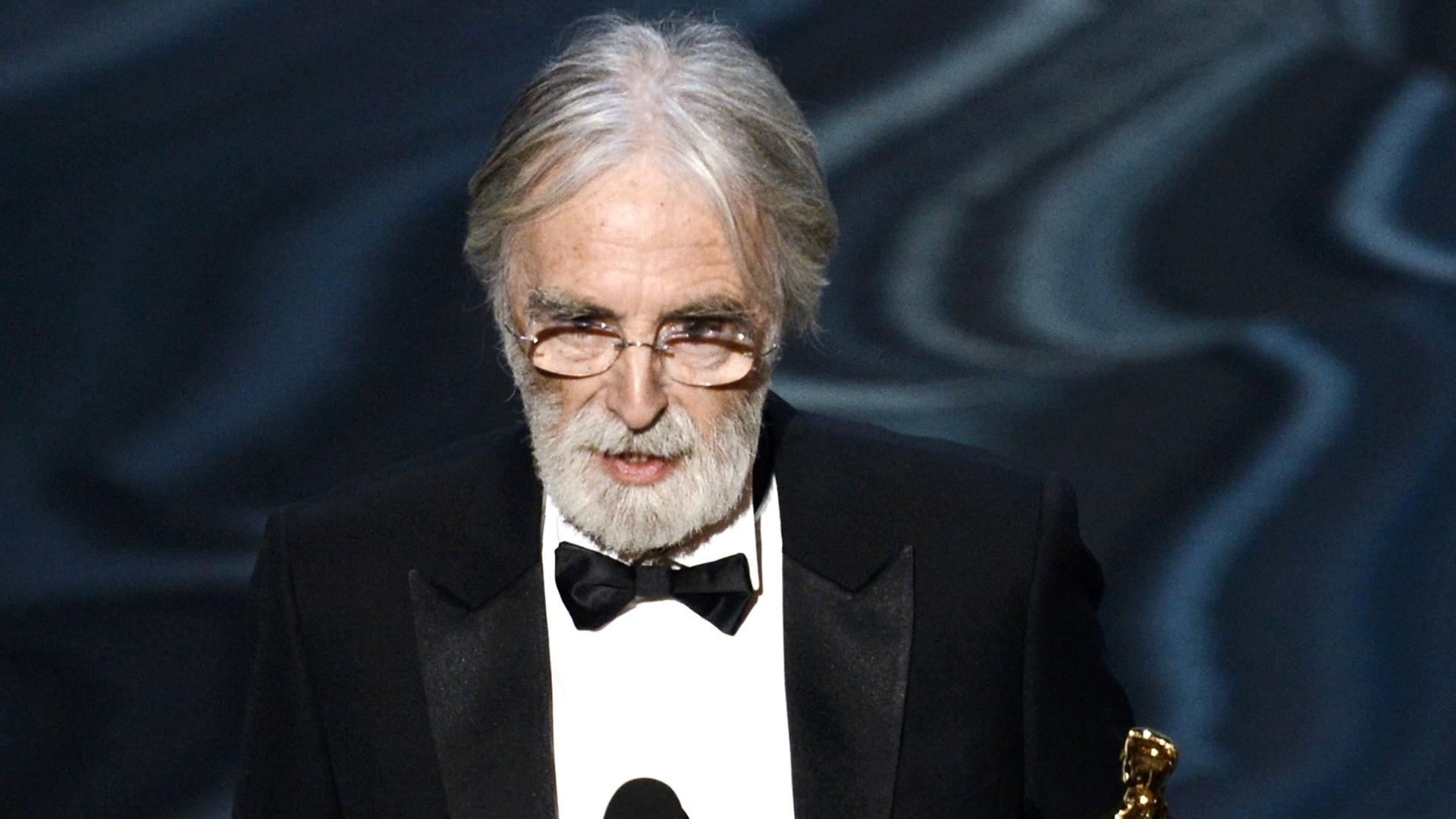 O diretor Michael Haneke ganha seu segundo Oscar; desta vez o austríaco levou a estatueta de Melhor Filme Estrangeiro por