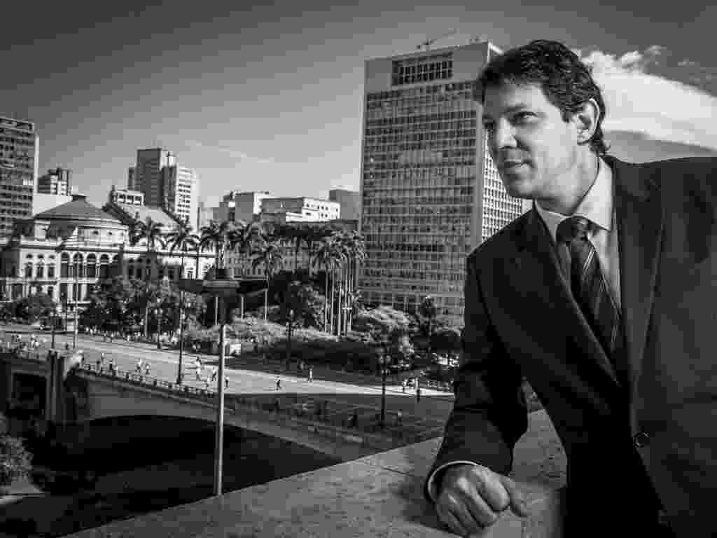 26.fev.2013 - O prefeito de São Paulo, Fernando Haddad (PT), concede entrevista exclusiva ao UOL - Leandro Moraes/UOL