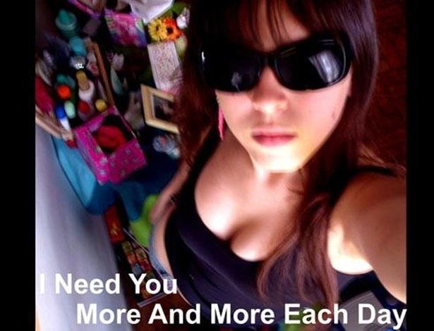 Andressa em foto antiga encontrada em seu fotolog