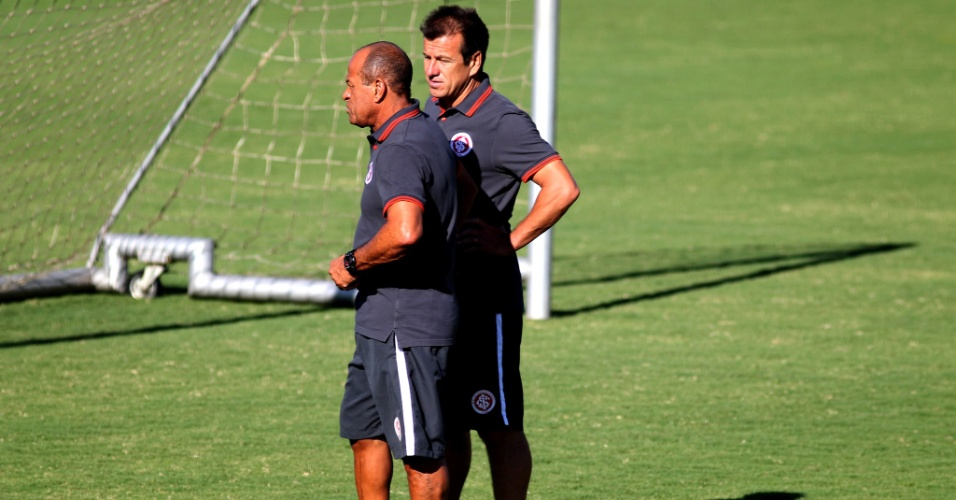 Dunga e Paulo Paixão no treino do Internacional