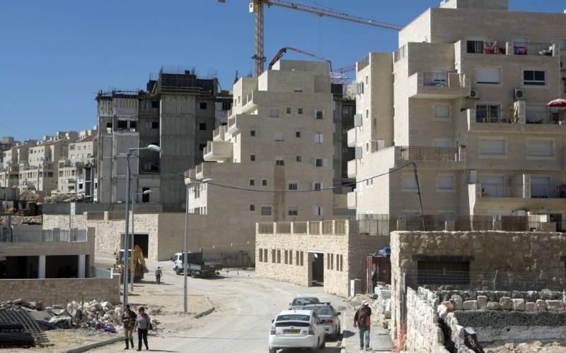 27.fev.2013 - Área em obras no assentamento israelense de Har Homa, a leste de Jerusalém