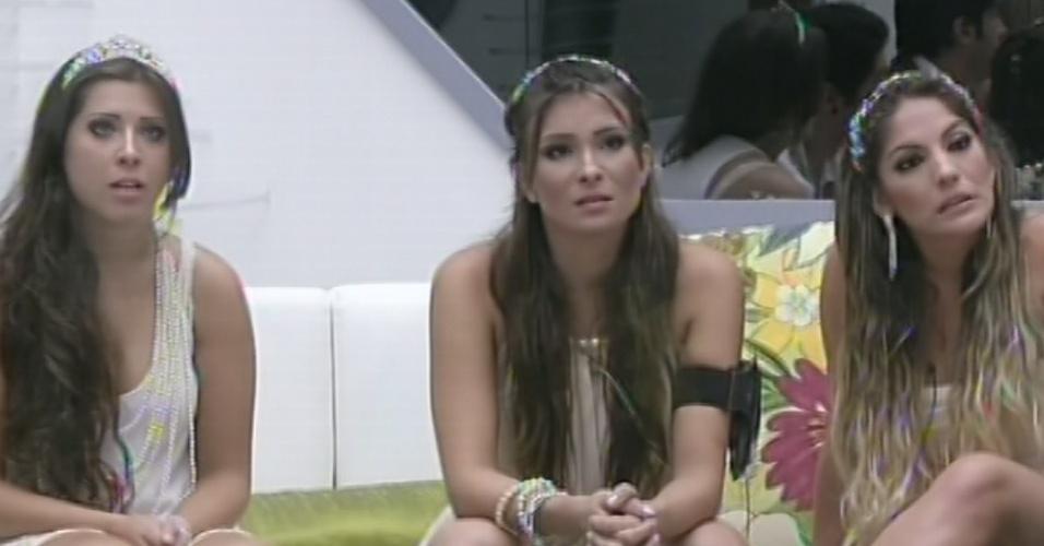 27.fev.2013 - Com a eliminação de Marcello, Andressa torna-se a vencedora da prova do veto e escolhe Nasser para retornar à prova com ela
