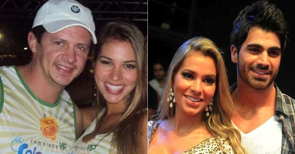 """Miss Campo dos Goytacazes, Adriana entrou no """"BBB11"""" comprometida com o empresário Thiago Pereira. Uma vez no reality, porém, ela se apaixonou por Rodrigão e chegou a dizer """"eu te amo"""" para ele na primeira noite em que ficaram. O casal está junto até hoje"""
