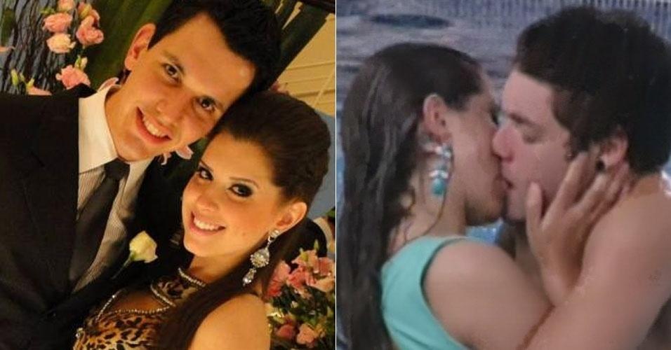 """No """"BBB13"""", a paranaense Andressa chegou comprometida com o advogado Jean Nunes, seu namorado há nove anos e único homem que ela havia beijado na vida. Mas logo nas primeiras semanas ela trocou carinhos com o gaúcho Nasser e, depois de alguns dias mantendo o romance embaixo do edredom, o assumiu durante uma das festas da casa. Em entrevista ao UOL, Jean confirmou o término do namoro"""
