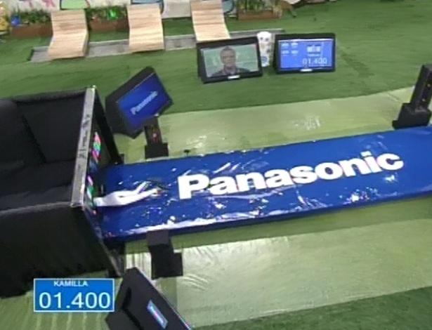 28.fev.2013 - Com o tempo de 1.400 segundo, Kamilla vence a prova por milésimos