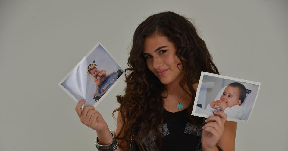 """28.fev.2013 - Lívian Aragão posou com exclusividade para o UOL no estúdio de sua mãe, Lílian, localizado na Barra da Tijuca, zona oeste do Rio. Aos 13 anos, a adolescente contou que é fã de Demi Lovato e não é muito vaidosa: """"Não fico horas me olhando no espelho"""""""